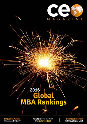 CEO magazine cover with 2016 global MBA rankings