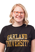 Headshot of Jill Katner in a black Oakland University shirt.