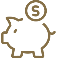 Financial Assistance Icon - Piggy bank with coin#elseIcon for this category