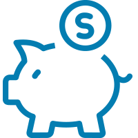 Finances Icon - Piggy Bank with Coin#elseIcon for this category
