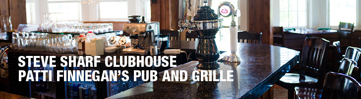 "image of a bar with the text ""Steve Sharf Clubhouse, Patti Finnegan's Pub and Grille"""