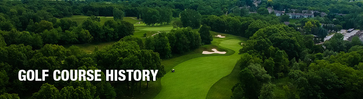 "image of the aerial view of a golf course with the text ""Golf Course History"""