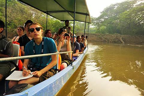 OU students participate in hands-on learning during Tropical Ecology in Costa Rica Study abroad program.