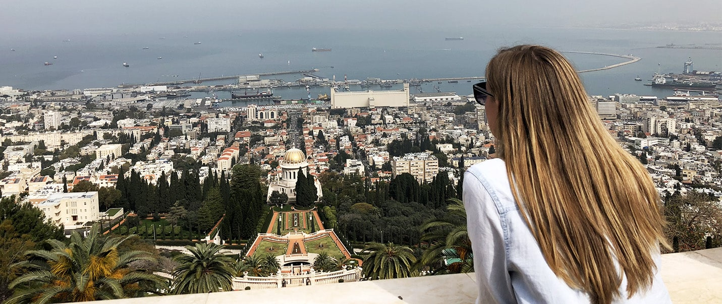 OUWB student overlooks sights in Israel during her away elective at the Hadassah Medical School.