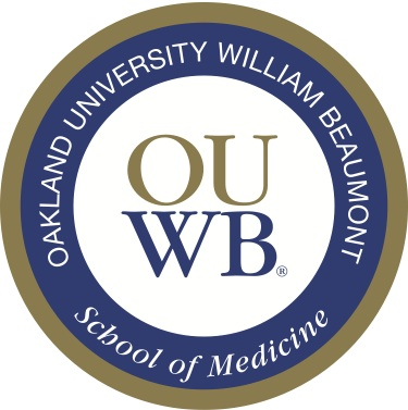 OUWB White Coat Patch that represents OUWB's Core Values.