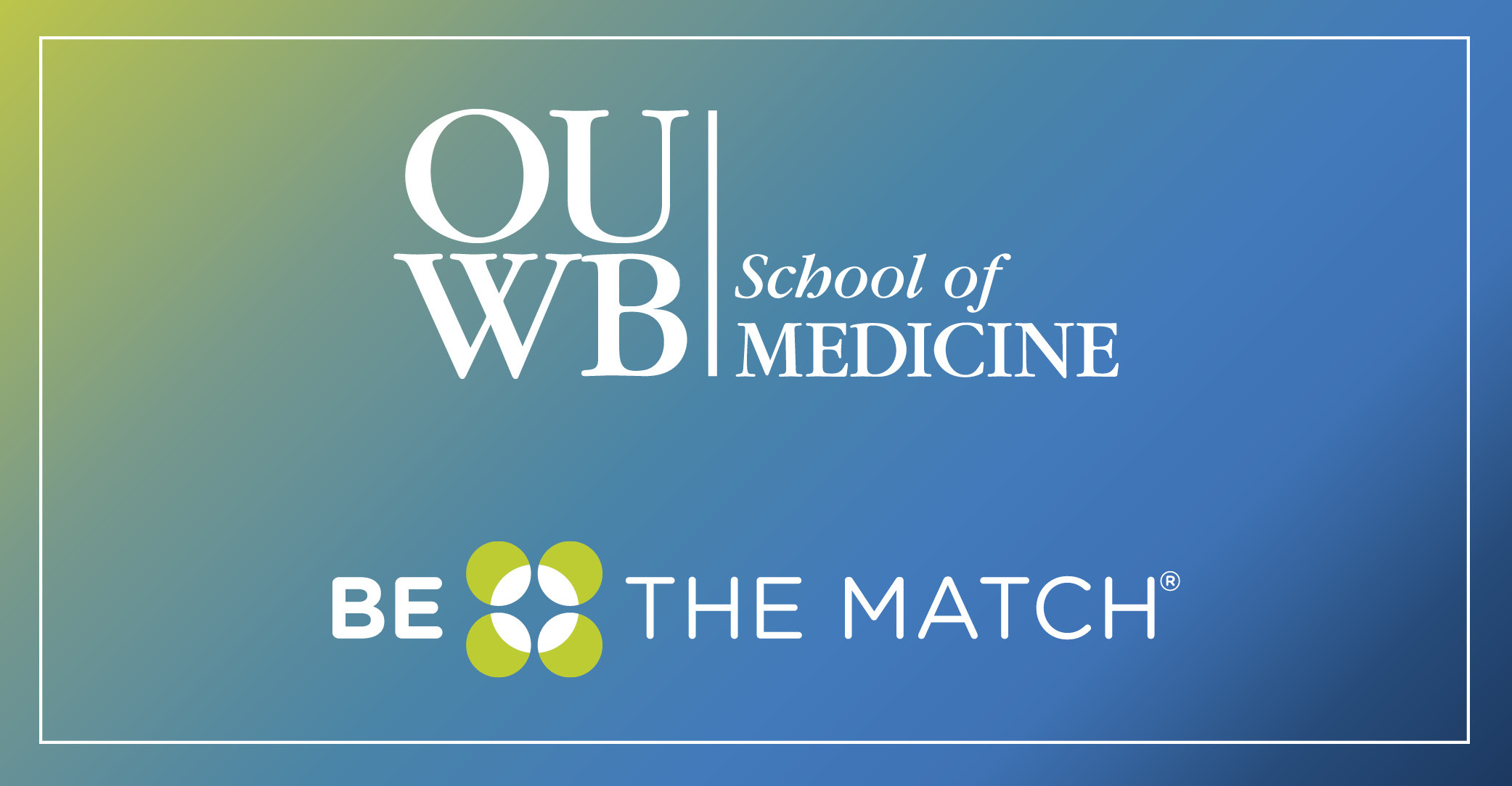 An image highlighting OUWB's 2020 Be The Match kickoff