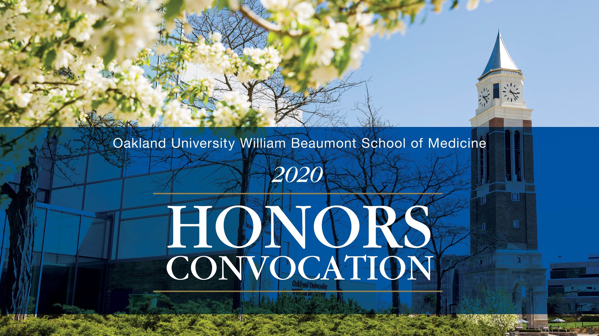 An image showing the 2020 Honors Convocation logo