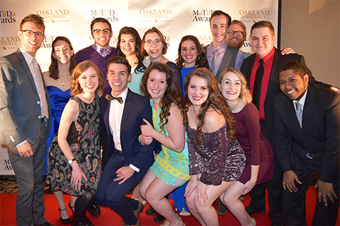 Group photo of School of Music, Theatre and Dance students at the MaTilDa Awards