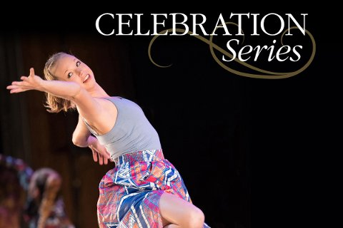 celebration series dancer gray shirt floral skirt