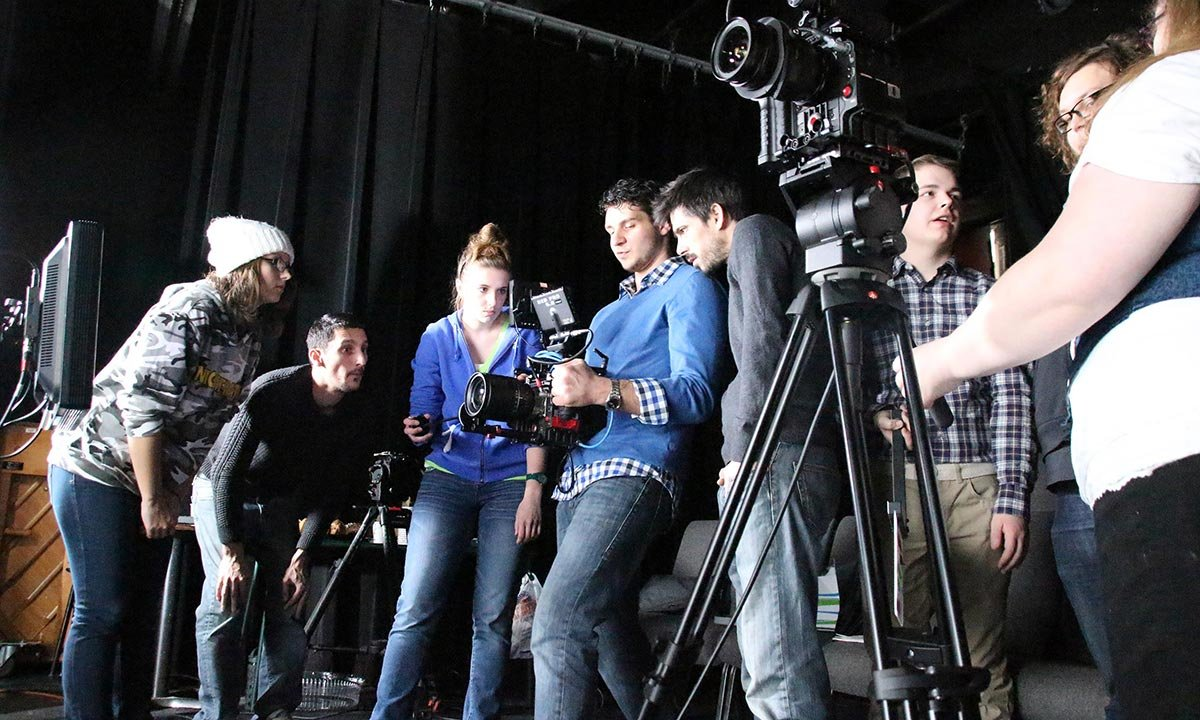 Oakland University film students help direct a shoot