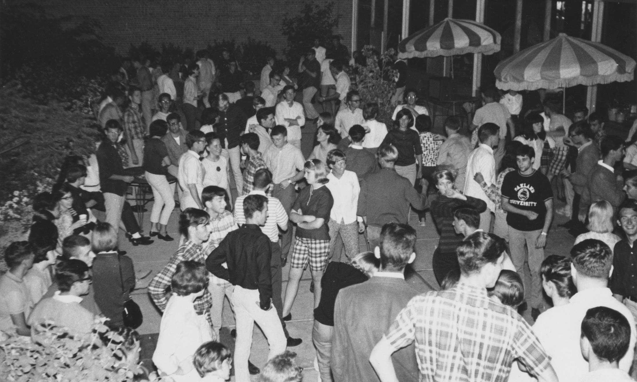Party held on the terrance of the Oakland Center
