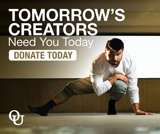 Link to the covid 19 relief page. Text reads Tomorrow's creators need you today. Donate today.