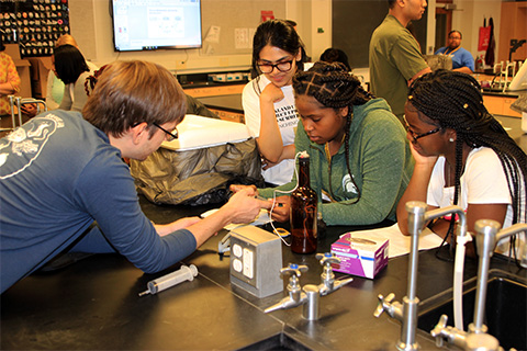 Project Upward Bound students explore sciences at OU under auspices of NSF grant