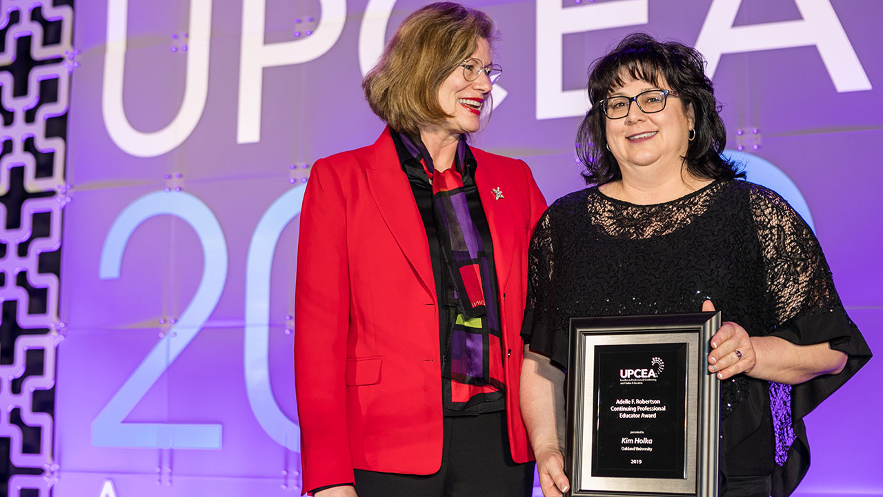 OU Nursing instructor earns national recognition from UPCEA