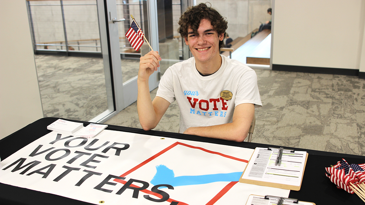 OU's Ethan Bradley named a Campus Election Engagement Project Fellow