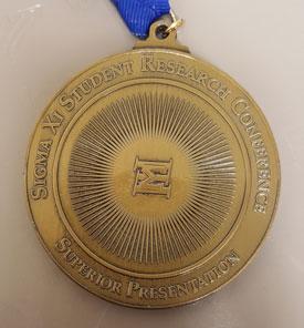 Sigma Xi Superior Presentation Medal
