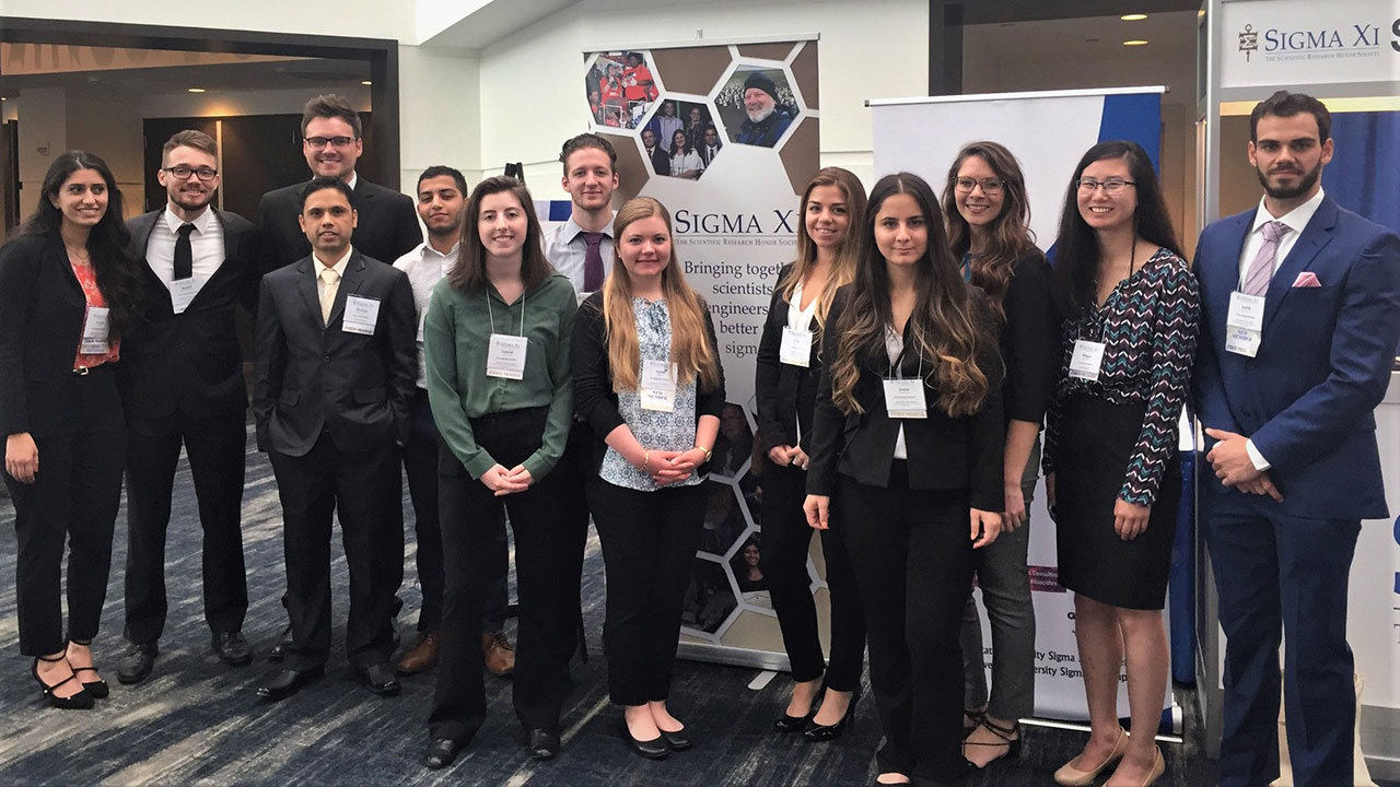 Students attend Sigma Xi research conference; two take home awards