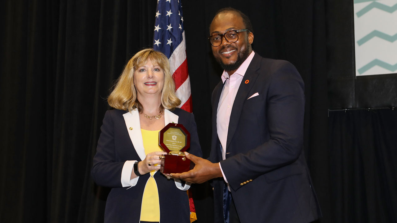 Richard Olawoyin honored for service to American Society of Safety Professionals