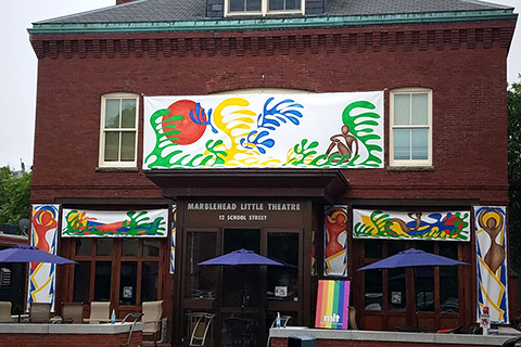 Jeremy Barnett - Marblehead Little Theatre mural project