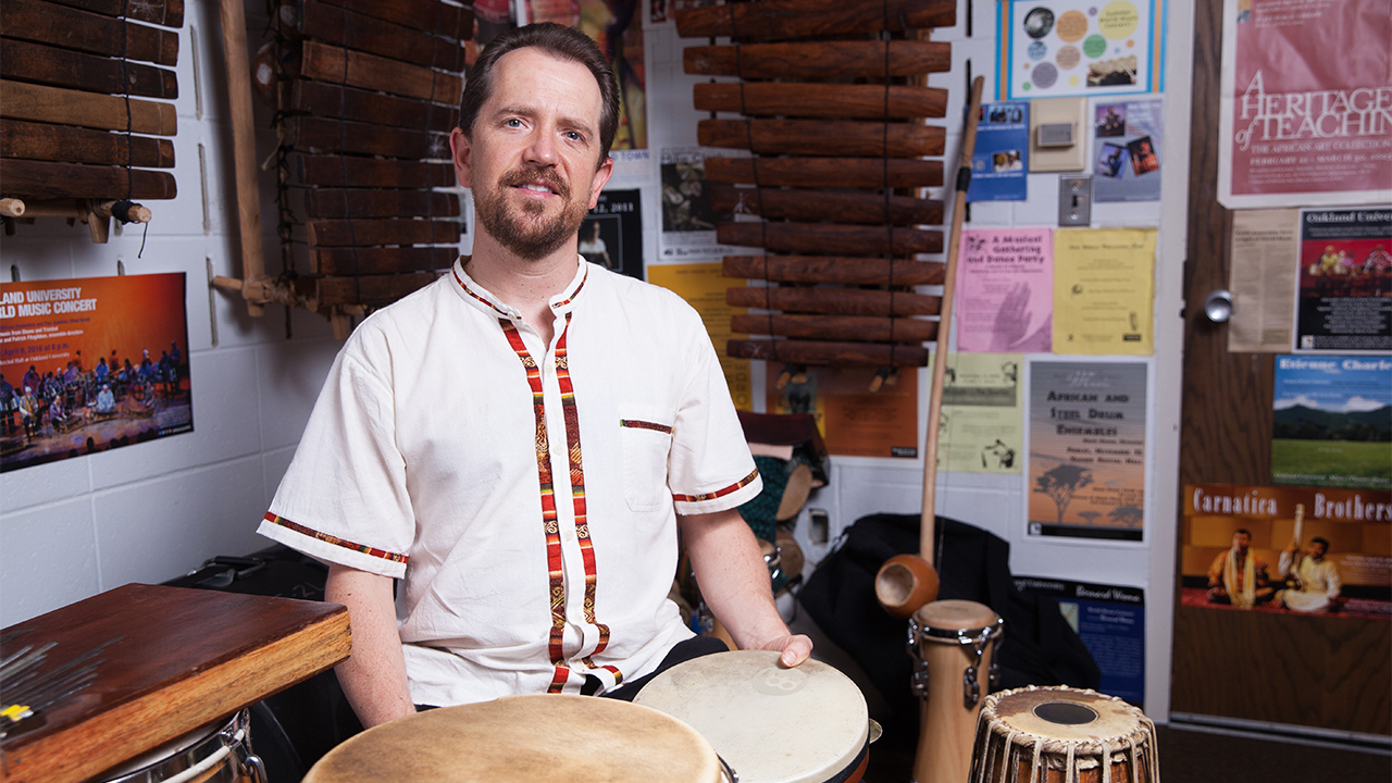Mark Stone, associate professor of world music and percussion