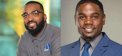Side by side headshots of Michael Hale Jr., CEO of Beyond Hashtags (left) and Tommy Brooks, Principal of Dove Academy (right)
