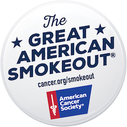 Great American Smokeout banner for 2017