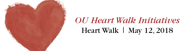 OU Heart Walk Initiatives; Heart Walk, May 12, 2018; heart graphic