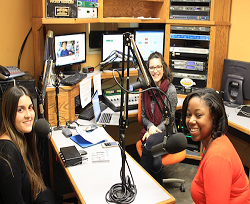 Health Sciences Assistant Professor Caress Dean talks with WXOU radio news director Sydney Rekar and student Erin Ben-Moche about heart health