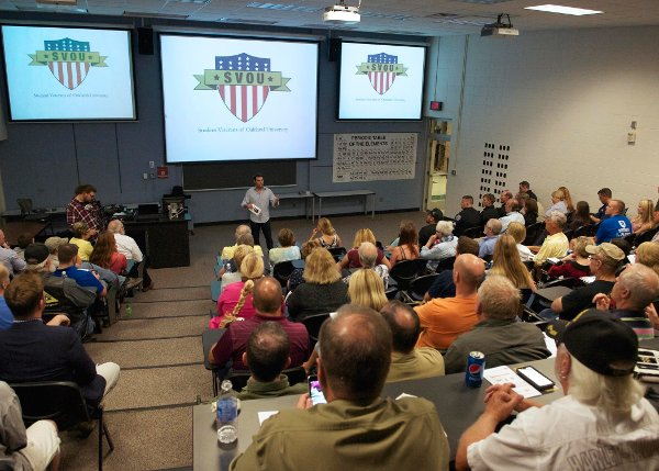 Student Veterans of OU hold an event on campus