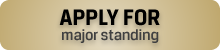 apply for major standing