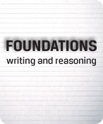 FOUNDATIONS - writing and reasoning